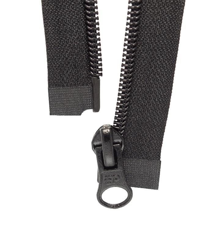 Fermeture éclair à glissière noir séparable maille injecté 70 cm couture blouson