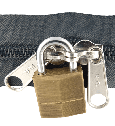 zipper with padlock