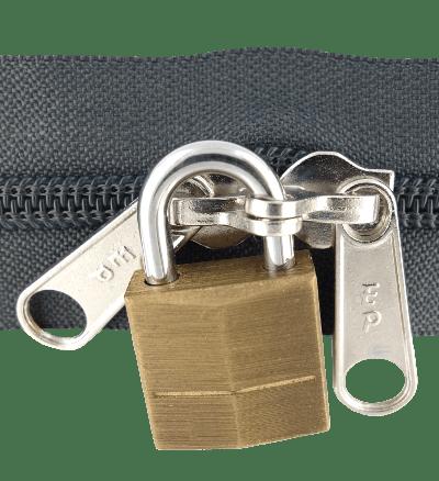fermeture éclair a cadenas